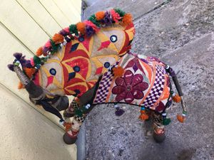 Rasjasthan textile handmade bull from India for Sale in Portland, OR