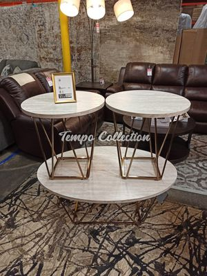 Tarica Occasional Table Set, Two Tone for Sale in Santa Fe Springs, CA