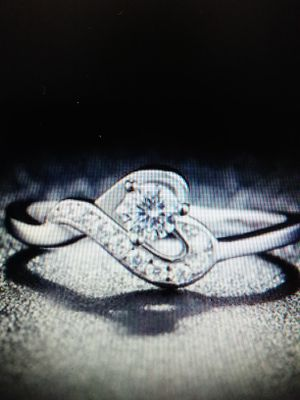 Sterling silver ring with rhinestones for Sale in Chesapeake, VA