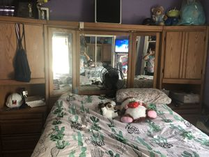 Bed Frame with storage, and mirrors for Sale in Irving, TX