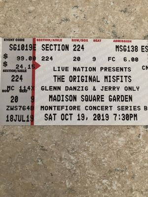 Misfits tickets!!! for Sale in New York, NY
