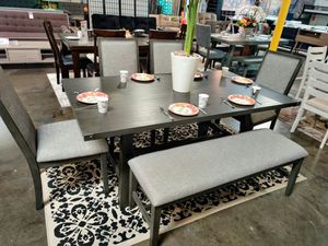 6 Piece Dining Set, Grey Finish for Sale in Fountain Valley, CA