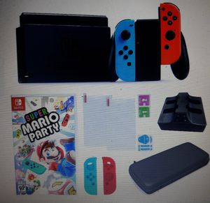 Nintendo Switch in Neon with Mario Party Game and Accessories ** $54 DOWN NO CREDIT CHECK ** for Sale in Philadelphia, PA