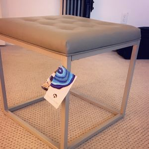 Vanity Stool Grey Leather, New for Sale in Fresno, CA