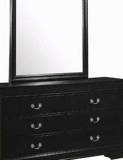 Crown Mark Louis Phillipe Black Transitional 6 Drawer Dresser Set for Sale in Kent,  WA