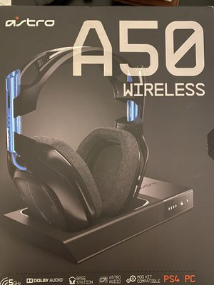 Astro Gaming - ASTRO A50 + Base Station RF Wireless Over-the-Ear Headphones - Blue for Sale in Phoenix, AZ