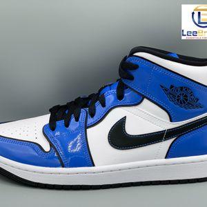 Nike Air Jordan 1 Mid SE Signal Blue Patent GS & Men Sizes for Sale in Atlanta, GA
