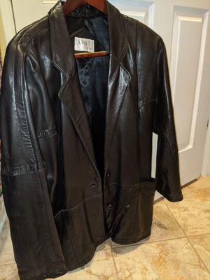 Vintage Black Leather Jacket for Sale in Rockville, MD