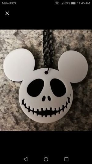 Disney - Jack Skellington + Mickey Mouse - Mash-Up - PENDANT / NECKLACE for Sale in Seminole, FL