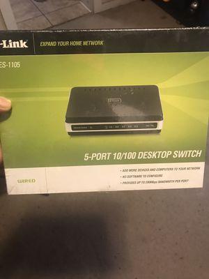 Desktop switch (5-port) for Sale in Bryan, TX
