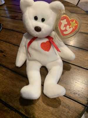 Valentino Ty Beanie Baby Bear with errors for Sale in Newtown, PA