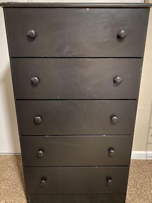 5 drawer black dresser for Sale in Denver, CO