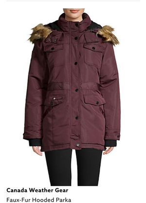 Canada Weather Gear Women's Parka Coat Jacket New Large X-Large Burgundy for Sale in Los Angeles, CA