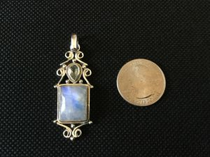 Blue Moonstone sterling silver Pendant for Sale in Austin, TX