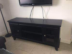 Black TV stand for Sale in Davie, FL