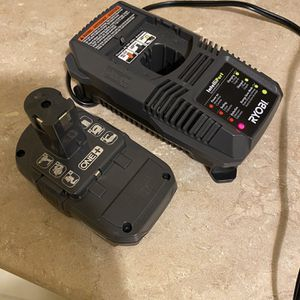 RYOBI 18V Battery And Charger Like New for Sale in Bakersfield, CA
