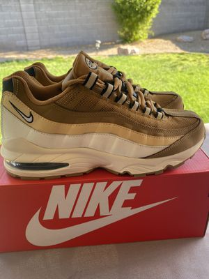 Nike Air Max '95 (GS) Shoes Wheat White Size 6.5Y (Women's Size 8) for Sale in Glendale, AZ