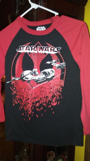 Long sleeve Star Wars shirt youth large for Sale in Garland, TX