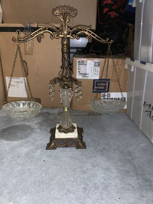 Vintage brass and crystal scale for Sale in Port St. Lucie, FL