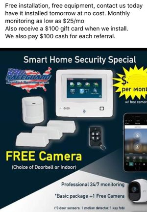 Free home security system no upfront cost💵 for Sale in Cleveland Heights, OH