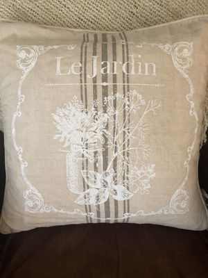French farmhouse pillow with down insert for Sale in Vancouver, WA