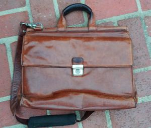 Kenneth cole New York, authentic brown leather bag for Sale in Costa Mesa, CA