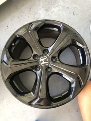 Honda Civic 2015 9th Gen Si Rims Original Black OEM Rims Only No Tires In Excellent Conditions Size 18inch pattern 5 114.3 CASH ONLY for Sale in South Miami, FL