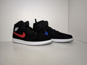 Nike Air Jordan 1 Retro Mid SZ 12 Black Red Blue Multicolor Swoosh for Sale in Porter, TX