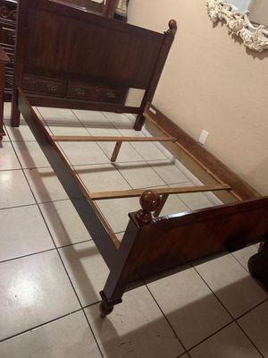 Full bed frame dresser with mirrors and 1 night stand no mattress for Sale in Miami, FL