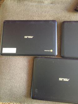 Asus Chromebook Blue $350 all 3 $125 each for Sale in San Bernardino,  CA
