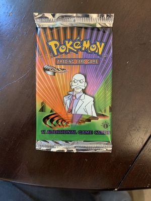 First edition Pokémon gym leader booster pack for Sale in Fremont, CA