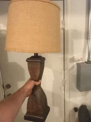 Wood lamp decor desk dresser for Sale in San Diego, CA