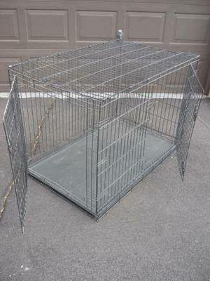 "Heavy Duty 2 Door Metal Dog Kennel Crate XXL 48"" Long – Price is Firm for Sale in Peoria, AZ"