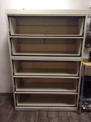 File cabinet style Metal shelving unit for Sale in South Salt Lake, UT