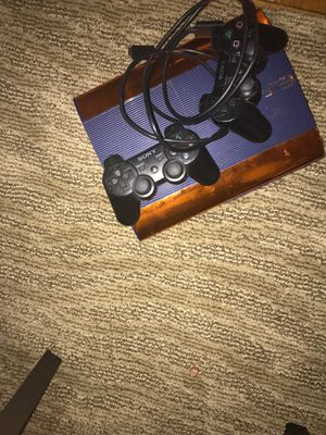Ps3 with 5 games and 2 controllers works perfectly for Sale in Washington, DC