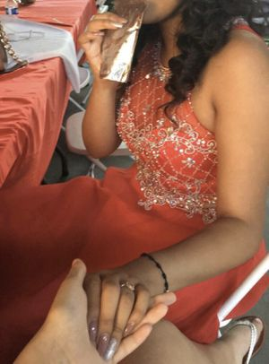 Two Piece Quince(15) Dress (Red)/ Prom Dress for Sale in Hayward, CA