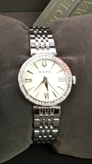 Bulova Women's Swarovski Crystal White Mother of Pearl 26mm Watch for Sale in Buena Park, CA
