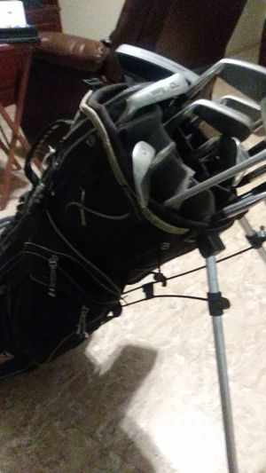 Black cat lynx golf clubs and bag for Sale in Round Rock, TX