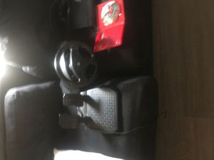 PS3 and steering wheel and pedals for Sale in Grand Terrace, CA