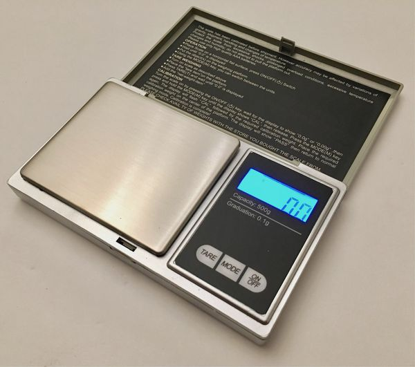 New in box 500 gram x 0.1g accuracy jewelry pocket weighing weight scale accurate measurment batteries included