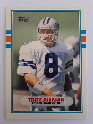 1989 TOPPS **TROY AIKMAN** ROOKIE**DALLAS COWBOYS HALL OF FAME QUARTERBACK for Sale in Clovis, CA