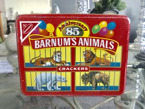 VINTAGE NABISCO BARNUM'S ANIMALS CRACKERS 85TH ANNIVERSARY TIN 1987 for Sale for sale  Pittsburgh, PA