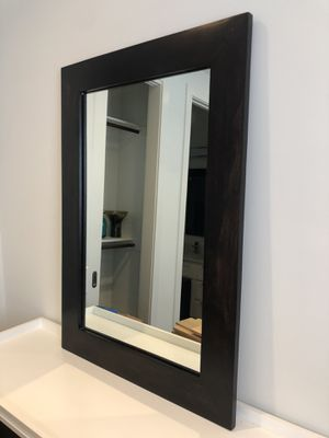 Solid dark wood mirror in great condition for Sale in Dallas, TX