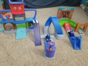 2 sets PJ Masks Toy Headquarters and Rival Racer for Sale in Minneapolis, MN