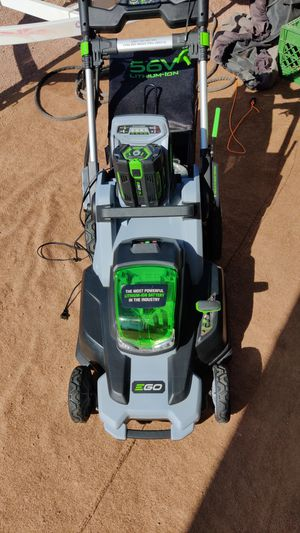 New ego 56 volt lawn mower and battery will trade possibly??? What do you have for Sale in Mesa, AZ