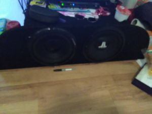 Two 10 inch subs one JL and one alpine for Sale in Wahiawa, HI