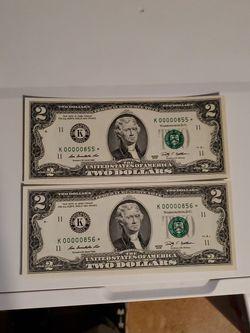 2 Super Low 2 Dollar Star Note.. for Sale in Cedar Park,  TX