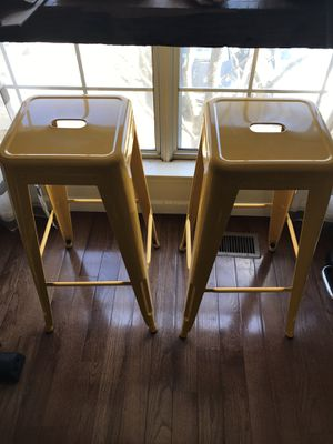 Two metal bar stools for Sale in Centreville, VA