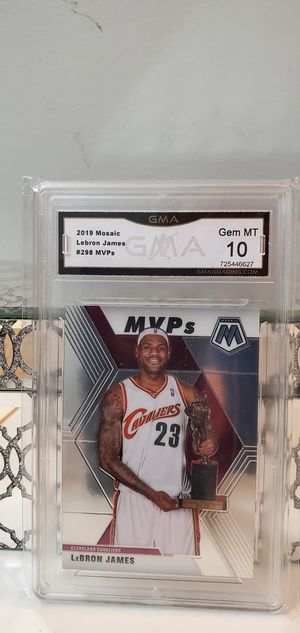 Lebron James 2019 Mosaic MVP graded 10 mint! for Sale in MONTGOMRY VLG, MD