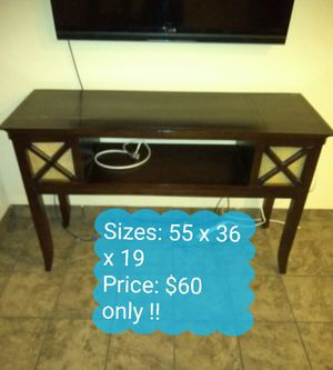 TV stand unique (Price and size on the picture) for Sale in Las Vegas, NV